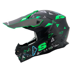 Shaft Casco Cross SH-MX30 Mustang Negro/Verde