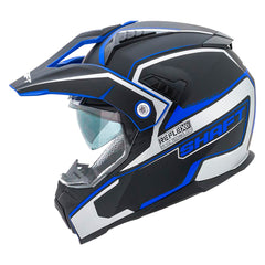 Shaft Casco Dual Sport SH-MX380 Reflex Negro/Azul