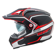 Shaft Casco Dual Sport SH-MX380 Reflex Negro/Rojo