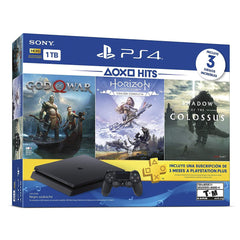 Sony Consola Video Juegos Play Station 4 Slim 1Tb Bundle 3 Juegos,  God of War, Horizon Zero Down y Shadow of the Colossus