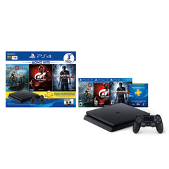 Sony Consola Video Juegos Play Station 4 Slim 1Tb Bundle 3 Juegos Uncharted 4, Gran Turismo, God of War