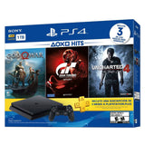 Sony Consola Video Juegos Play Station 4 Slim 1Tb Hit Bundle 3 Juegos Uncharted 4, Gran Turismo, God of War