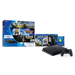 Sony Consola Video Juegos Play Station 4 Slim 500GB Hit Bundle 3 Juegos Horizon, Ratchet Clank, The Last of Us