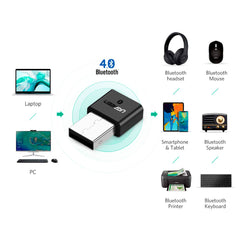 Ugreen Adaptador Wireless Bluetooth 4.0 (US192)