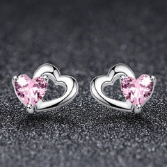 CR Charms Aretes Corazoncitos