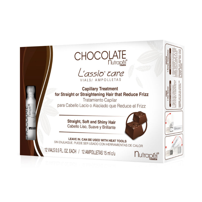 AMPOLLETA NUTRAPEL LASSIO CARE CHOCOLATE C/12 15ML CA.LA