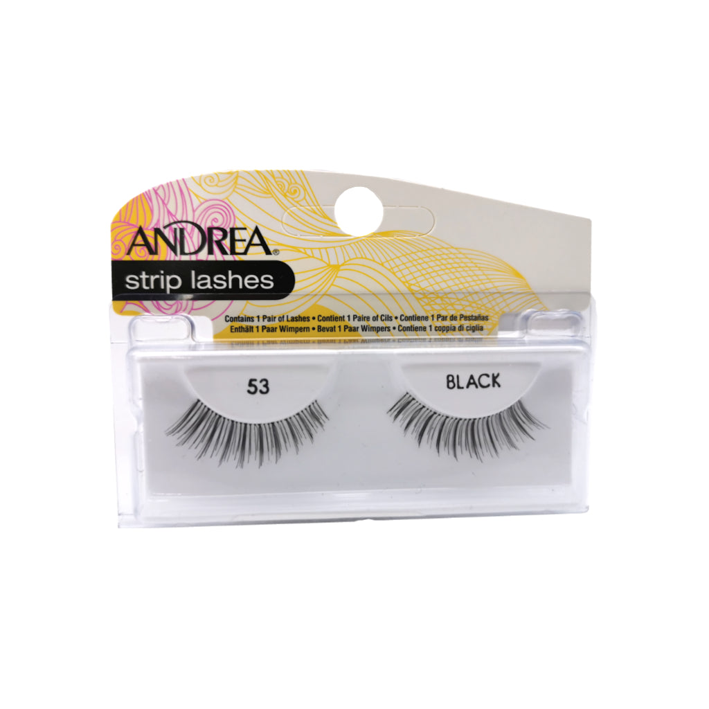 PESTAÑA ANDREA STRIP LASHES 53 BLACK