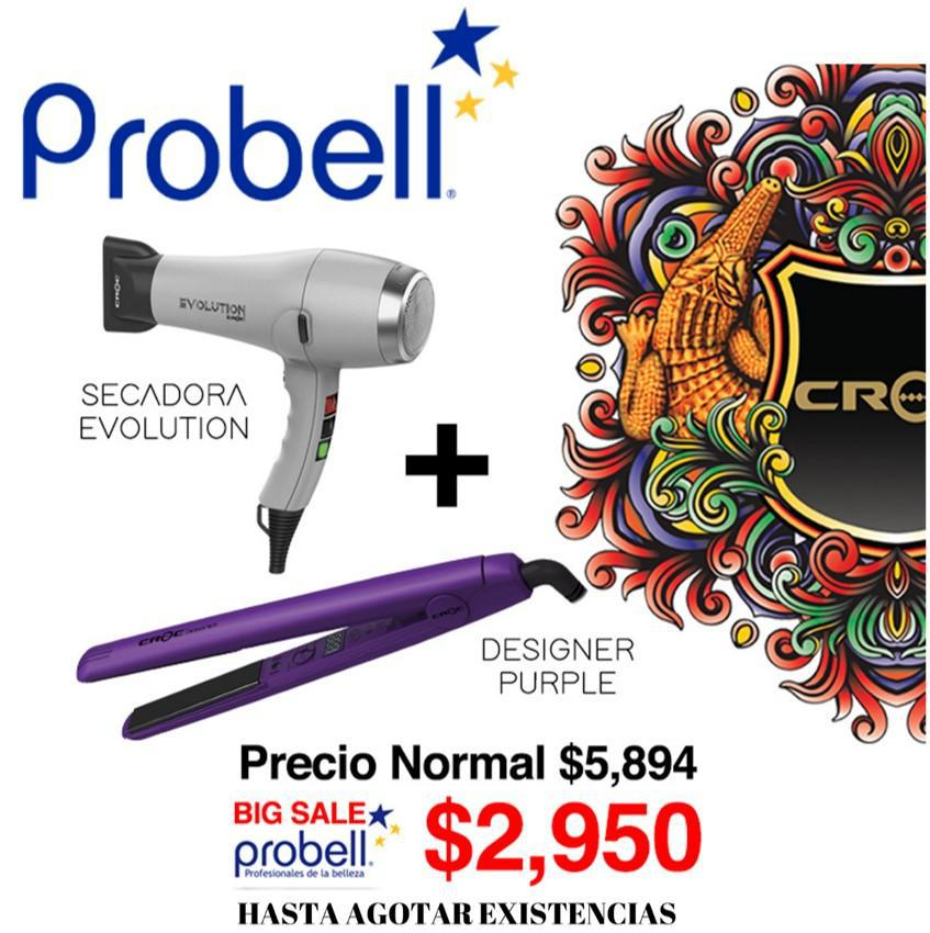 Kit Secadora Evolution + Designer Purple ¡Precio Especial!