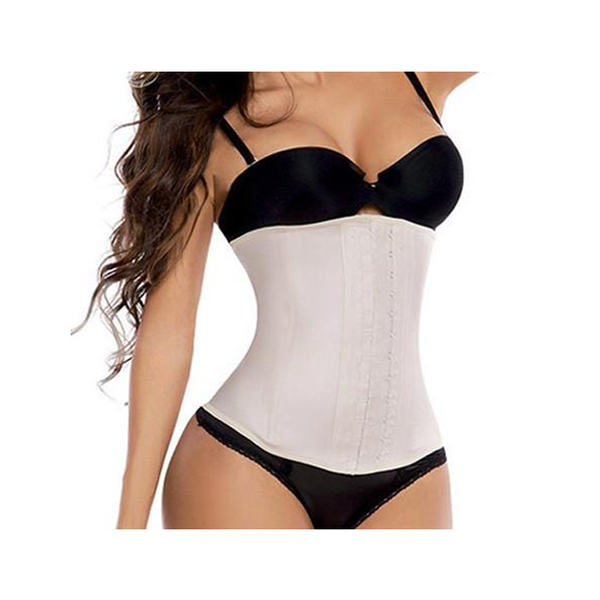 3 HOOK DELUXE LATEX WAIST TRAINER (NUDE)