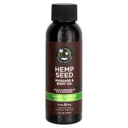Earthly body hemp seed massage & body oil