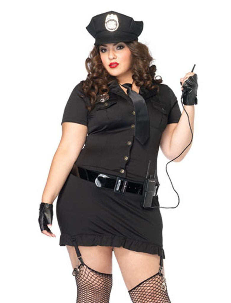 PLUS SIZE DIRTY COP HALLOWEEN COSTUME