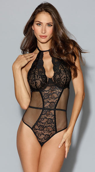AFTER MIDNIGHT LACE TEDDY