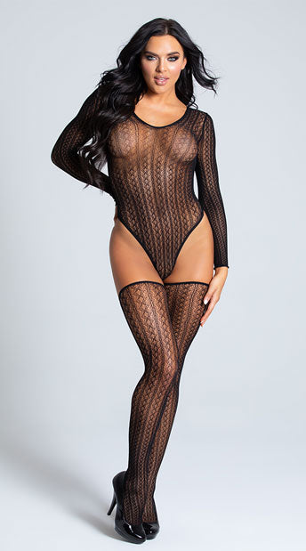 TEMPTING TIGHT KNIT TEDDY SET
