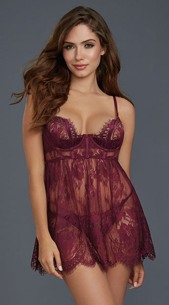 MULBERRY MUSE BABYDOLL SET