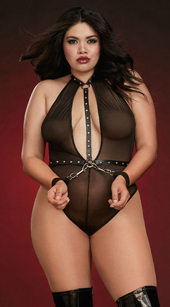 PLUS SIZE DON'T HOLD BACK TEDDY SET