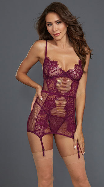 WHAT A MESH MULBERRY CHEMISE SET