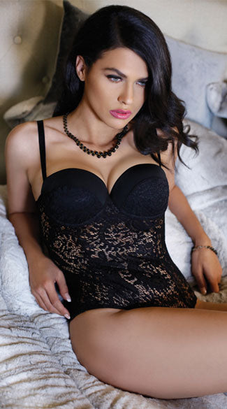 MONROE PUSH-UP LACE TEDDY