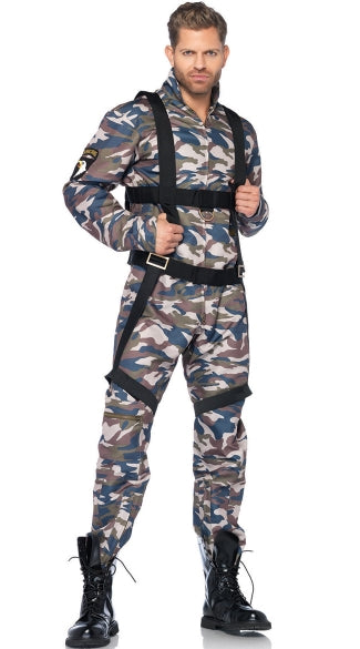 MEN'S MILITARY COMBAT STUD COSTUME