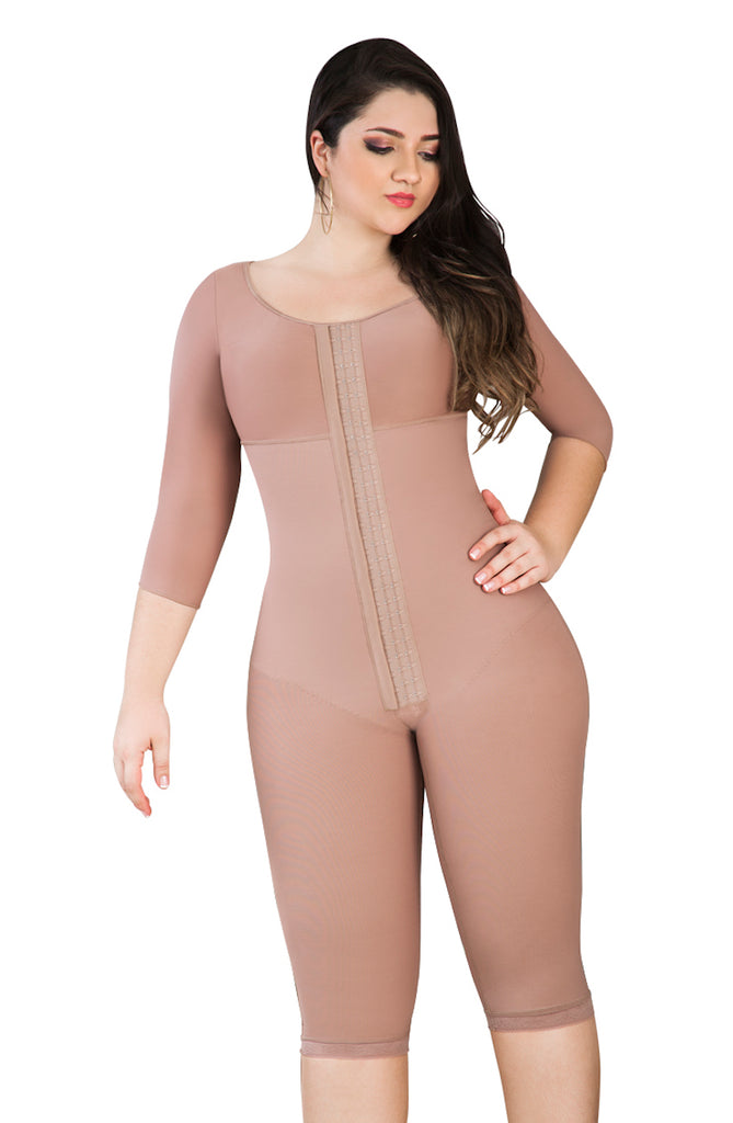 Long Compression Tummy Tuck/ Mommy Make over Faja with Bra & Sleeves