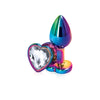 Rear Assets Multicolor Heart Shaped Anal Plug