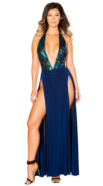 LUSTY BLUE DRESS