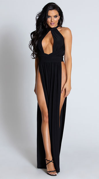 GODDESS HIGH SLIT GOWN