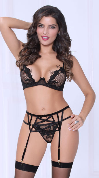 NOTHING BUT NET BRA SET