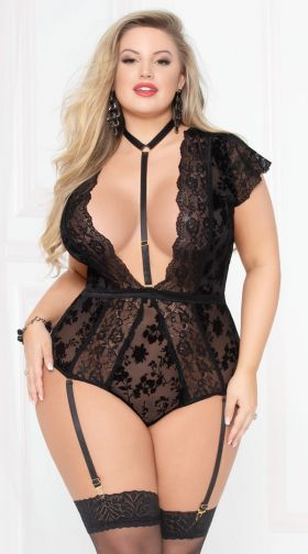 Plus Size Get Low Tempting Teddy