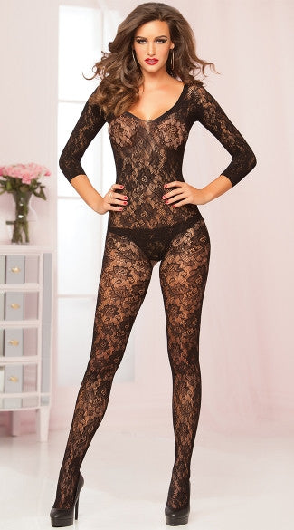 FLORAL LACE BODYSTOCKING