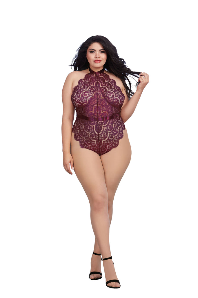 Plus PAGE PERFECT LACE TEDDY