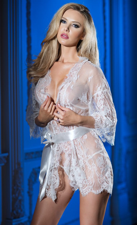 Bridal Lacy Belle Robe Set