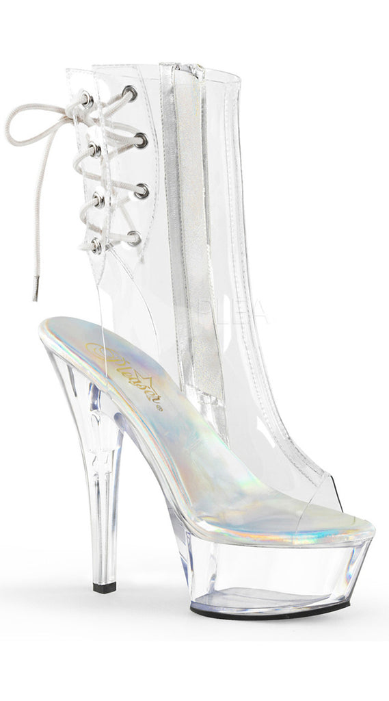 "6"" CLEAR ZIPPER ANKLE BOOT"