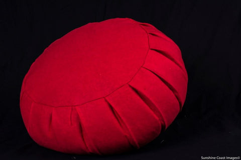Organic Hemp Covered Buckwheat Hull Filled Meditation/Yoga Cushion (click through for colour options)
