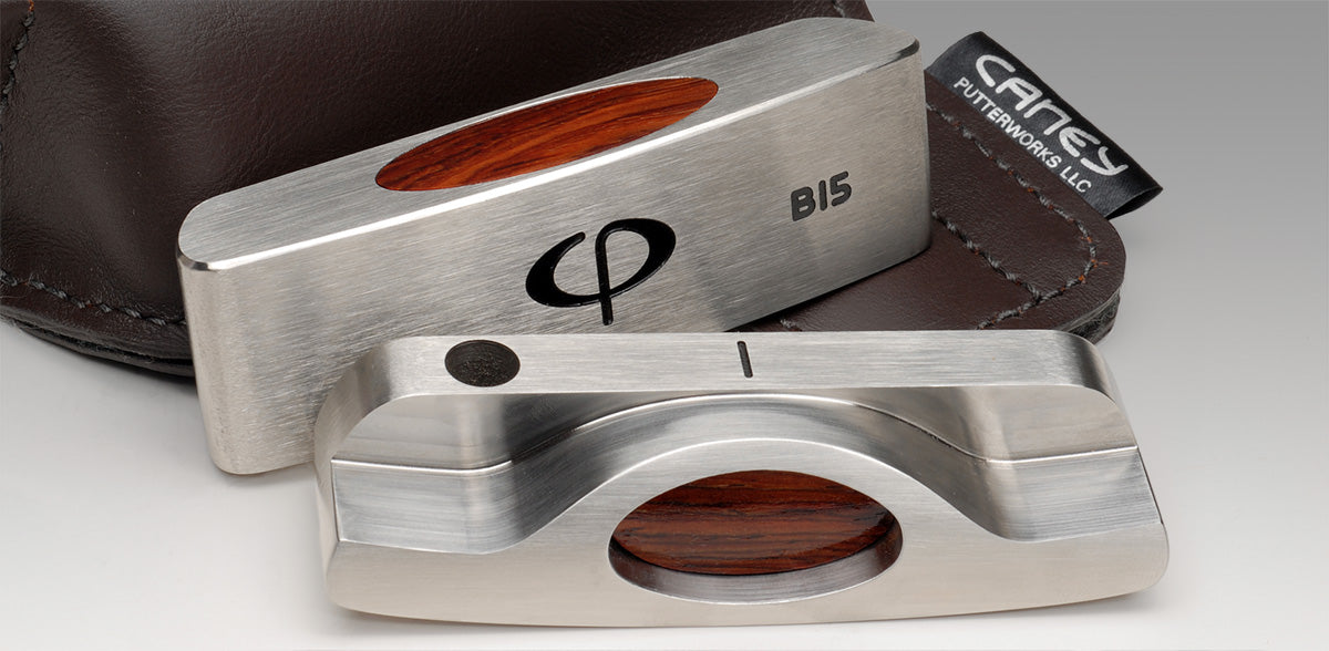 b15 blade putter wood insert - caney putterworks