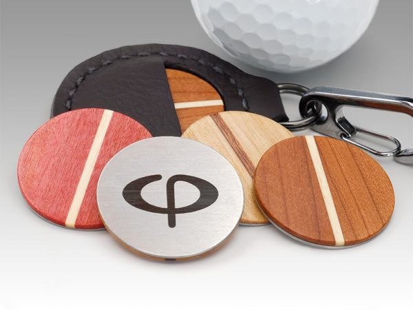 Caney Putterworks wood ball markers