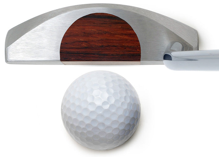 wood insert golf putter