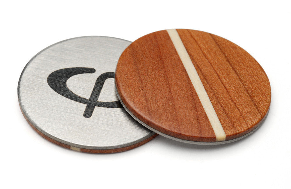 Cherry Wood Golf Ball Marker with Case - Caney Putterworks - 1