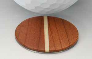 Cherry Wood Golf Ball Marker with Case - Caney Putterworks - 3