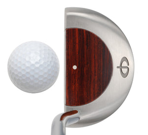 M11 Mallet Putter with Cocobolo Wood - Caney Putterworks - 4