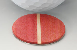 Pink Ivory Golf Ball Marker with Case - Caney Putterworks - 3