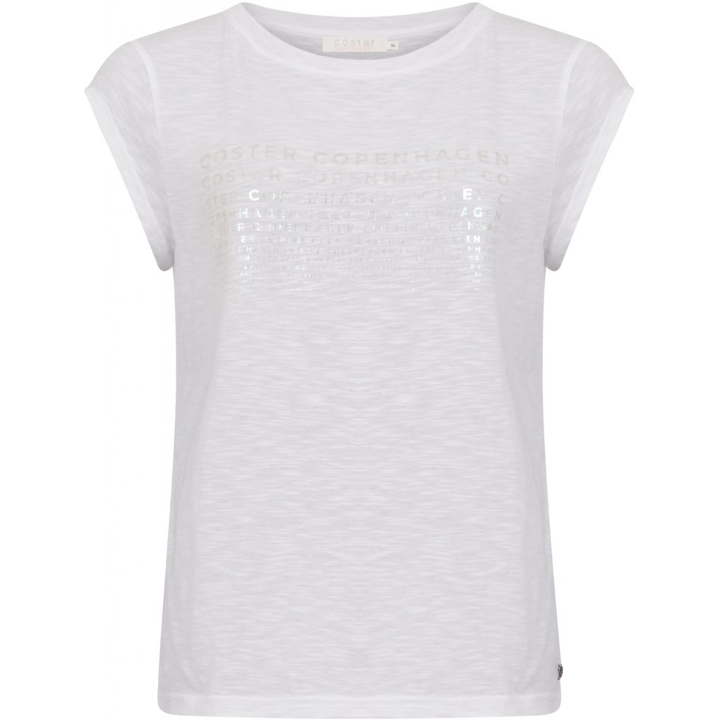 COSTER 211-1168 T-SHIRT W. HOLOGRAPHIC PRINT WHITE