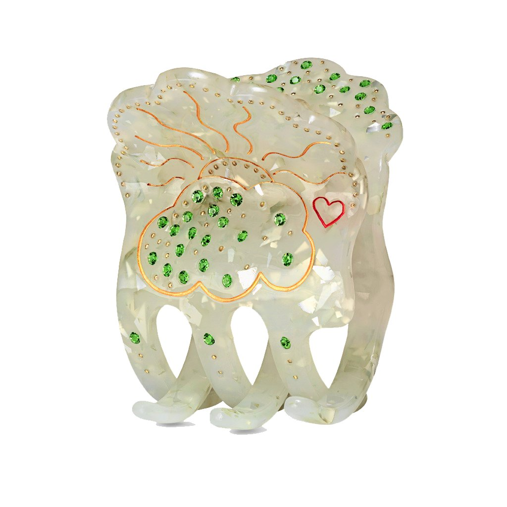 MAANESTEN 3462A LIGHT HAIR CLAW MILKY GREEN