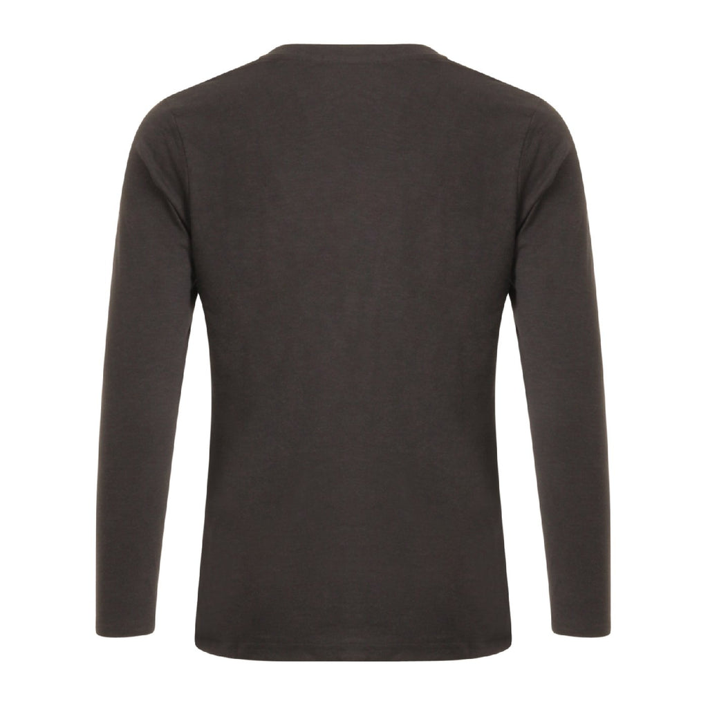 COSTER CCH1105 LONG SLEEVE V-NECK T-SHIRT BLACK