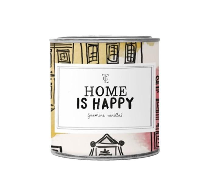 "THE GIFT LABEL BIG CANDLE TIN ""HOME IS HAPPY"""