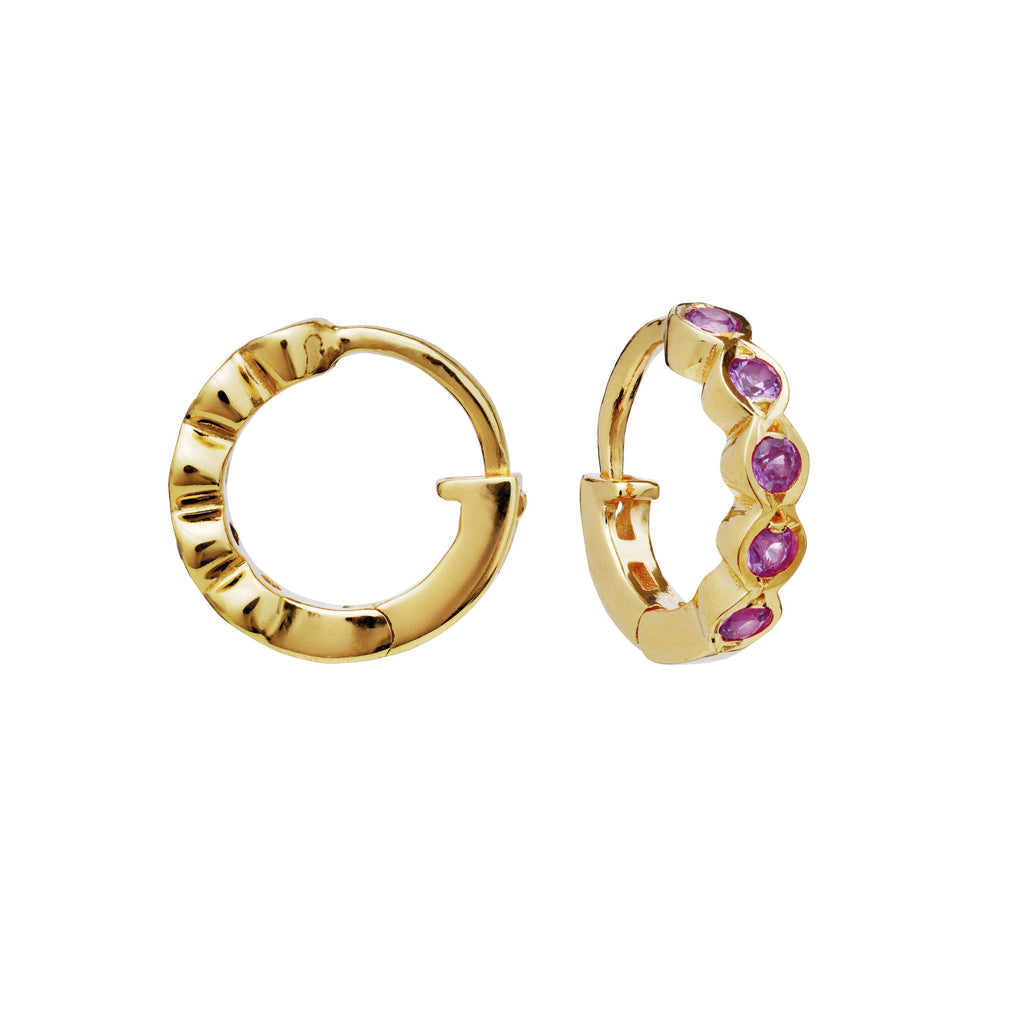 MAANESTEN 9670A KANYA EARRINGS PINK TOURMALIN GOLD
