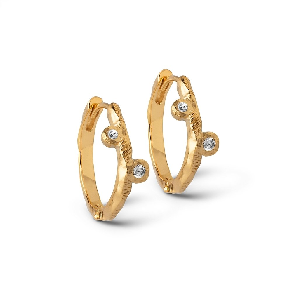 ENAMEL E169GM HOOPS KAMMA GOLD