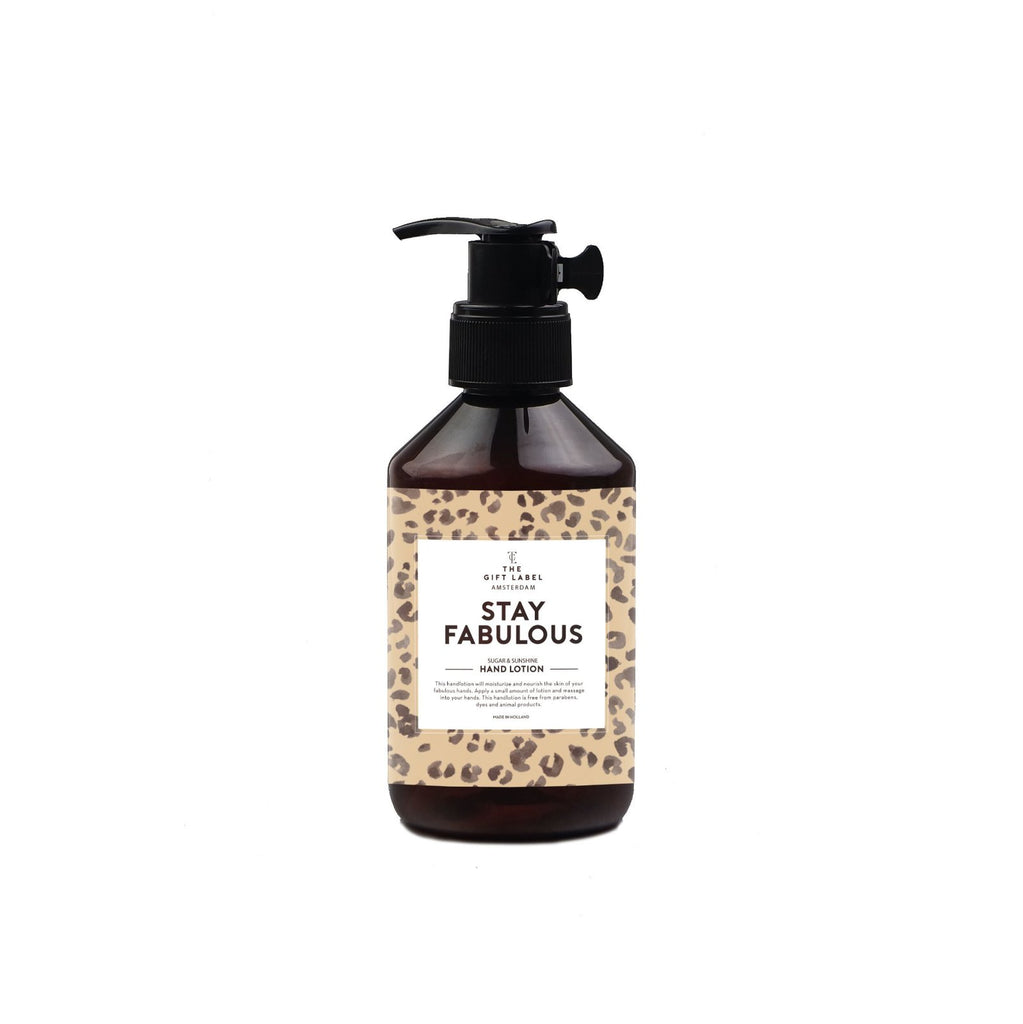 "THE GIFT LABEL HAND LOTION ""STAY FABULOUS"""
