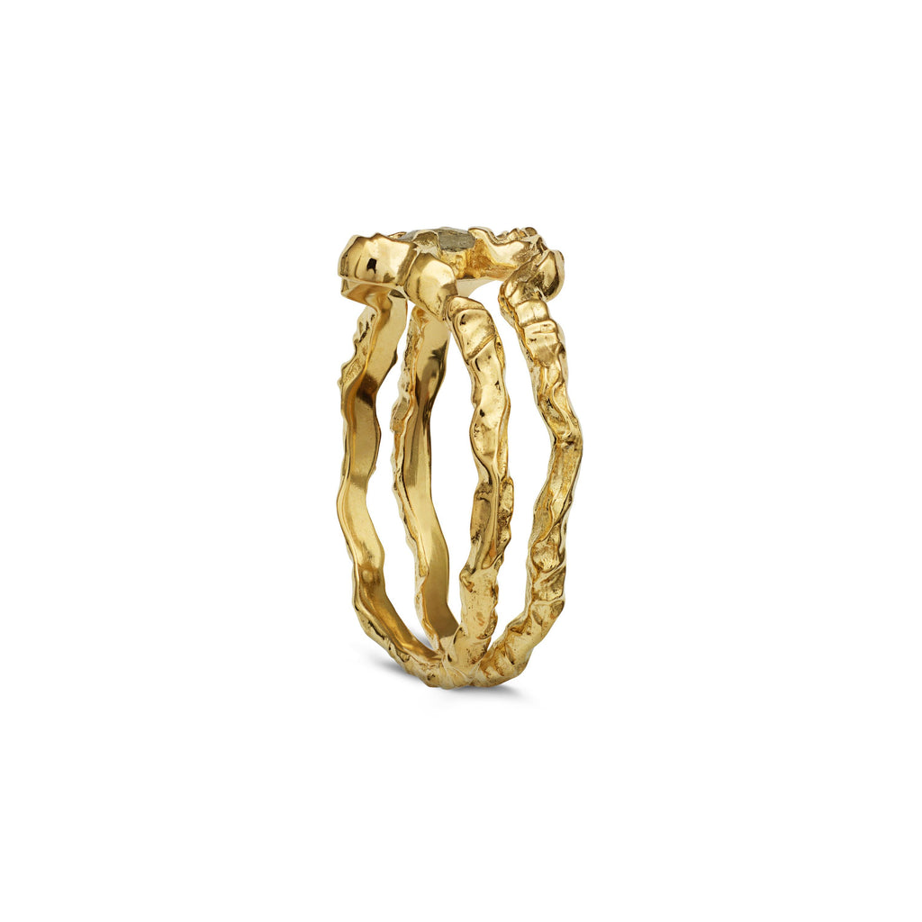 MAANESTEN 4738A SHELLY RING GOLD