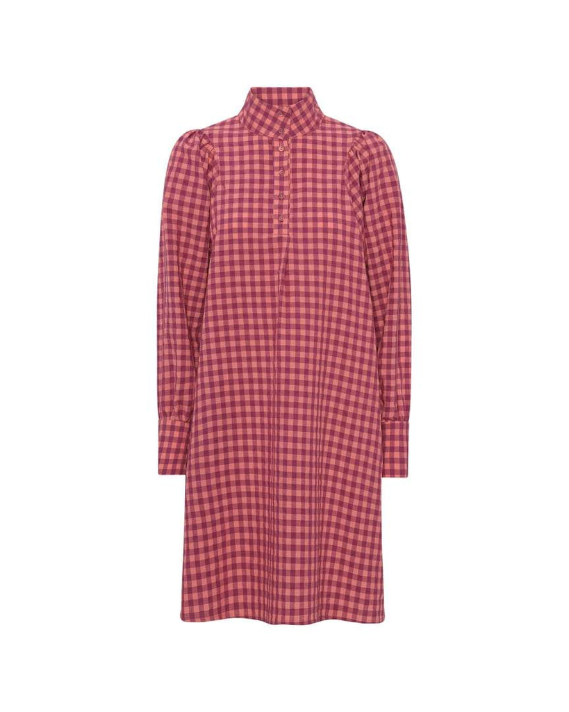 HUNKØN 20702 PAULINA DRESS RED CHECKED