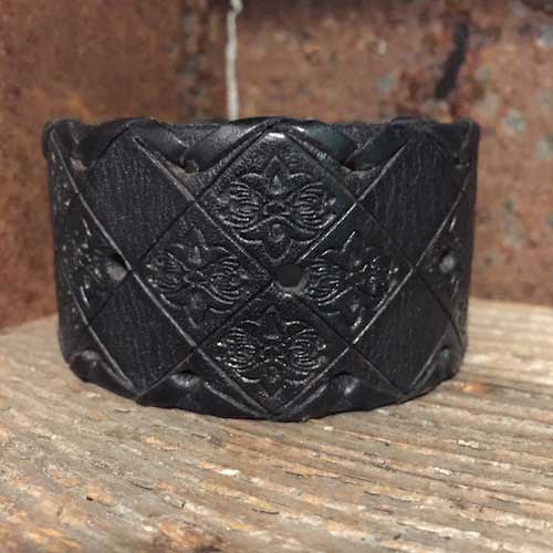 Black leather western cuff.